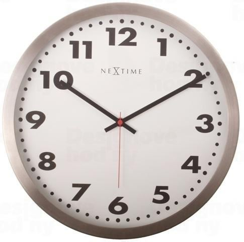 Dizajnové nástenné hodiny 2519 Nextime Arabic White 26cm