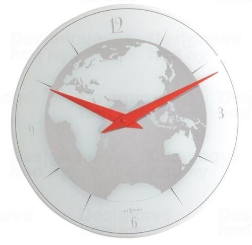 Dizajnové nástenné hodiny 8142 Nextime Atlas 43cm