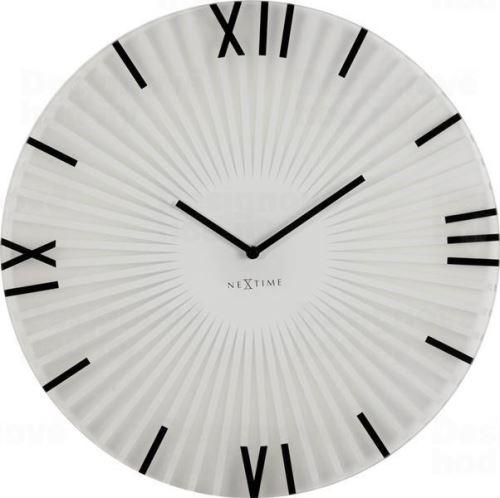 Dizajnové nástenné hodiny 8175wi Nextime Sticks 43cm