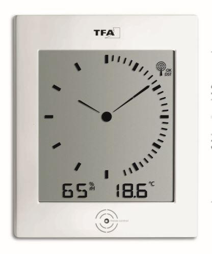 Rádiom riadené nástenné hodiny TFA 60.4506 DIALÓG
