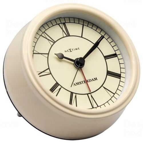 Dizajnové stolové hodiny 5199cr Nextime Small Amsterdam 11cm