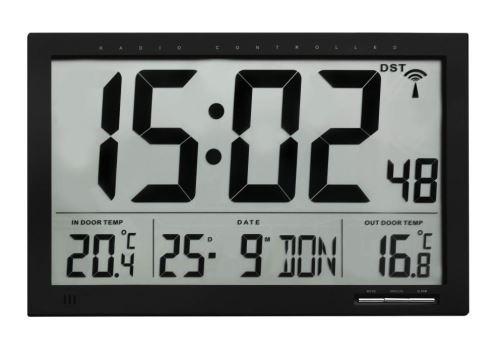 Nástenné hodiny s vnútornou a vonkajšou teplotou TFA 60.4510.01