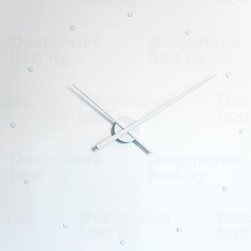 Dizajnové nástenné hodiny Nomon OJ biele 80cm