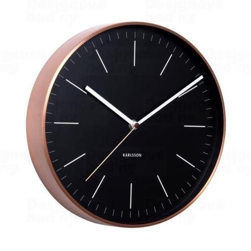 Dizajnové nástenné hodiny 5507BK Karlsson 28cm