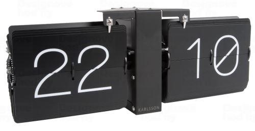 Dizajnové preklápací hodiny KA5602BK Karlsson 36cm