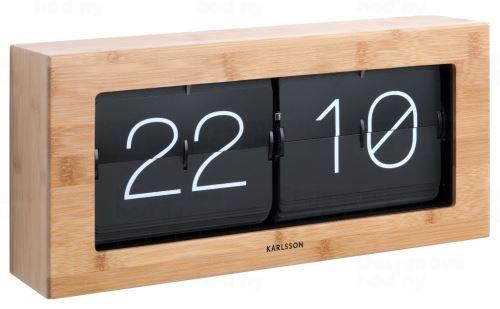 Dizajnové nástenné / stolové preklápací hodiny 5642WD Karlsson 37cm