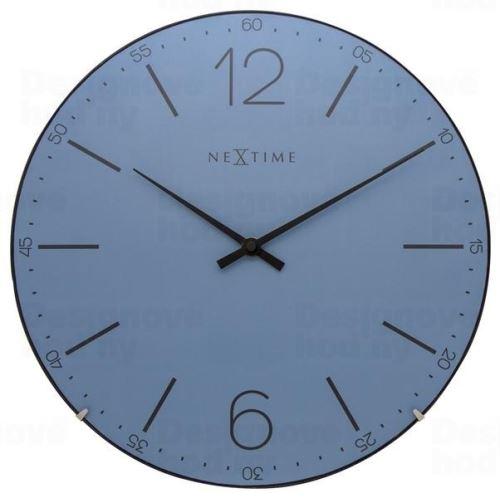 Dizajnové nástenné hodiny 3159bl Nextime Index Dome 35cm