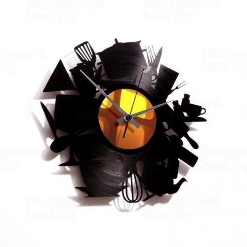Dizajnové nástenné hodiny Discoclock 020 Kitchen madness 30cm