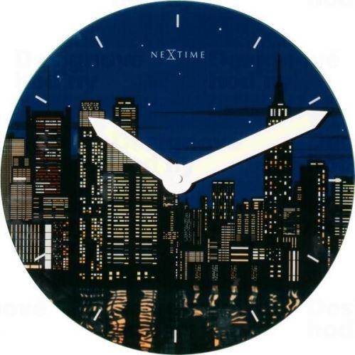 Dizajnové nástenné luminiscenčné hodiny 8819 Nextime New York 30cm