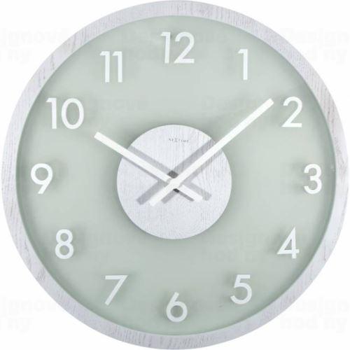 Dizajnové nástenné hodiny 3205W Nextime Frosted Wood 50cm
