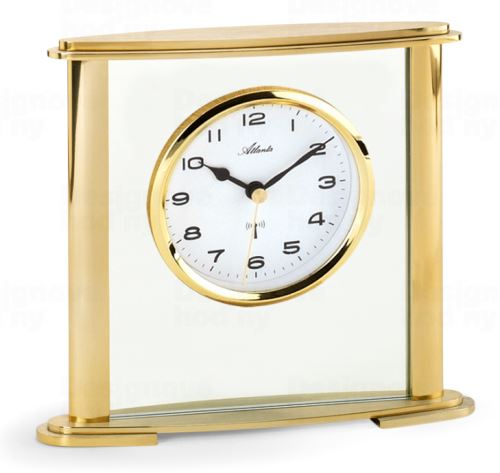 Dizajnové stolové hodiny AT3092-9 riadené signálom DCF