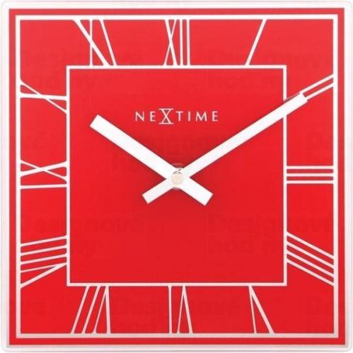 Dizajnové nástenné hodiny 5184ro Nextime Square 20cm