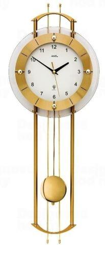 Luxusné kyvadlové nástenné hodiny 5257 AMS riadené rádiovým signálom 68cm