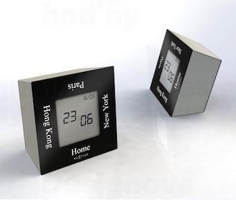 Dizajnové stolové digitálne hodiny 5190zw Nextime Turn4Time 8cm