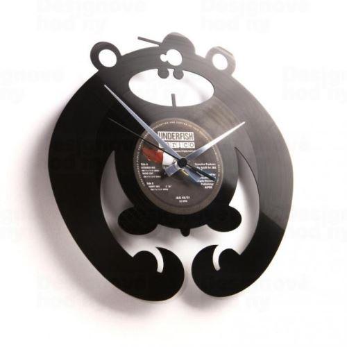Dizajnové nástenné hodiny Discoclock 037 King of the bongo 30cm