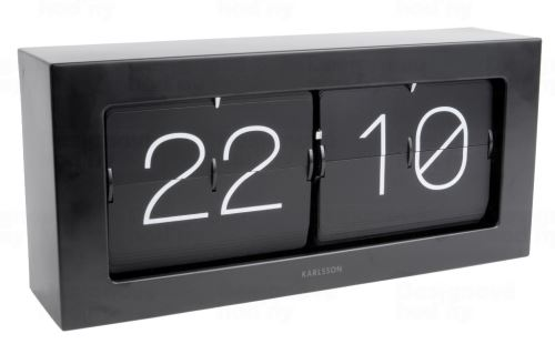 Dizajnové nástenné / stolové preklápací hodiny 5642BK Karlsson 37cm