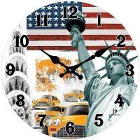 Dizajnové nástenné hodiny 14849 Lowell 34cm