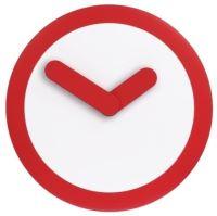 Dizajnové nástenné hodiny 2615ro Nextime Stripey red 25cm