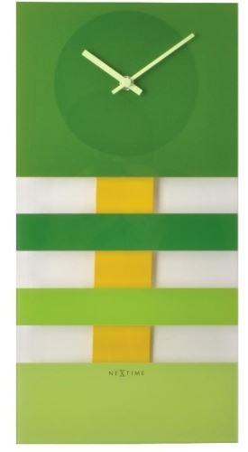 Dizajnové nástenné kyvadlové hodiny 2855gn Nextime Bold Stripes 38x19cm