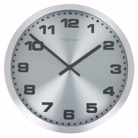 Dizajnové nástenné hodiny 2906zw Nextime Mercure Black 25cm