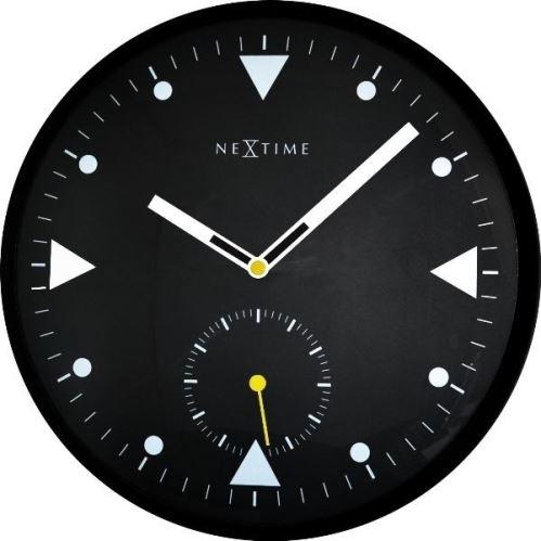 Dizajnové nástenné hodiny 3049 Nextime Serious Black 32cm