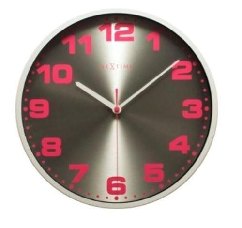 Dizajnové nástenné hodiny 3053wi Nextime Dash White 35cm