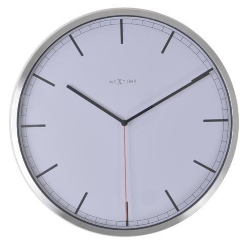 Dizajnové nástenné hodiny 3071wi Nextime Company White Stripe 35cm