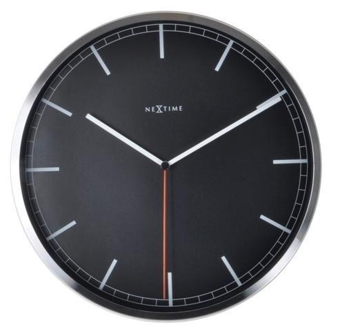 Dizajnové nástenné hodiny 3071zw Nextime Company Black Stripe 35cm