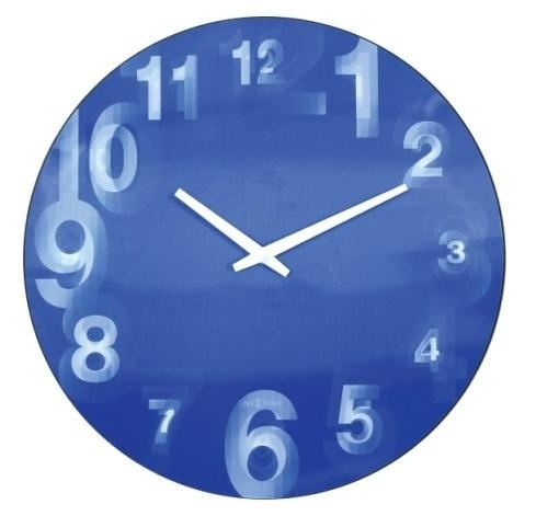 Dizajnové nástenné hodiny 3077bl Nextime 3D 39cm