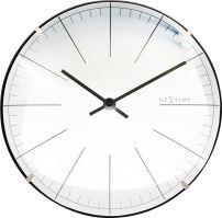Dizajnové nástenné / stolové hodiny 3506wi Nextime Big Stripe Mini Dome 20cm