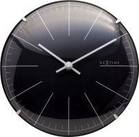 Dizajnové nástenné / stolové hodiny 3506zw Nextime Big Stripe Mini Dome 20cm
