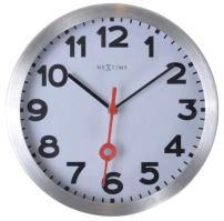 Dizajnové nástenné hodiny 3998ar Nextime Station Number 19cm