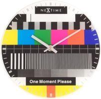 Dizajnové nástenné hodiny 5162 Nextime LITTLE TESTPAGE 20cm