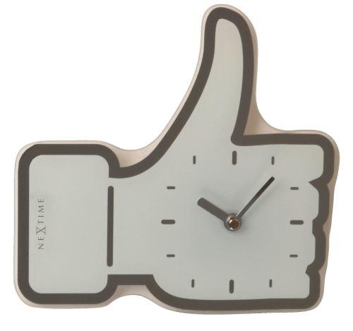 Dizajnové nástenné hodiny 5185wi Nextime mini Facebook Like 21cm