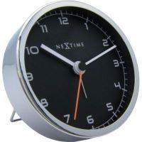 Dizajnový stolný budík 5194zw Nextime Company Alarm 9cm