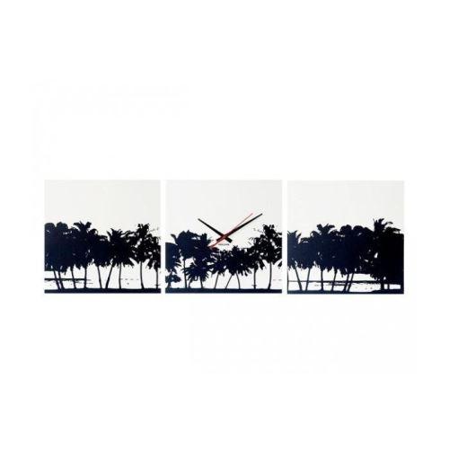 Dizajnové nástenné hodiny 5484 Karlsson Pláž - 3x obraz