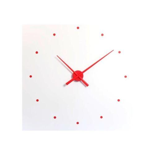 Dizajnové nástenné hodiny Nomon OJ červené 80cm
