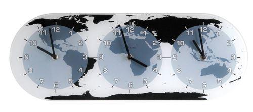 Dizajnové nástenné hodiny 8108 Nextime Mondial 50cm