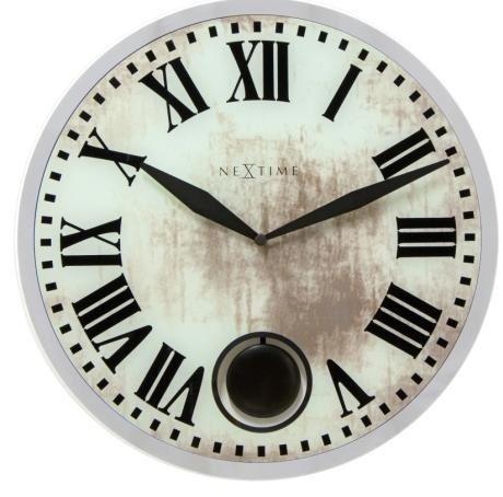 Dizajnové nástenné kyvadlové hodiny 8162 Nextime Romana 43cm