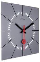 Dizajnové nástenné hodiny 8636gs Nextime Stazione 35cm