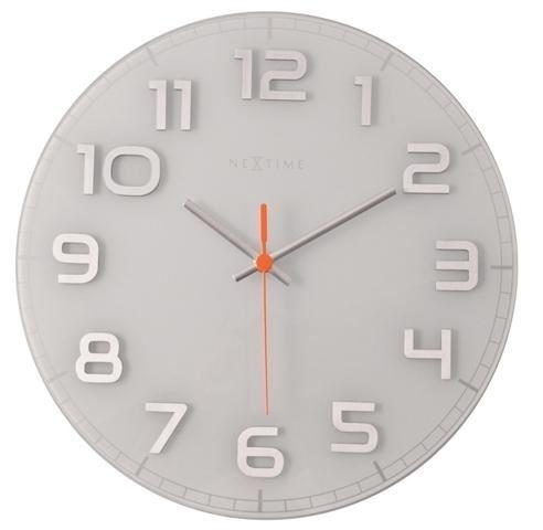 Dizajnové nástenné hodiny 8817wi Nextime Classy round 30cm