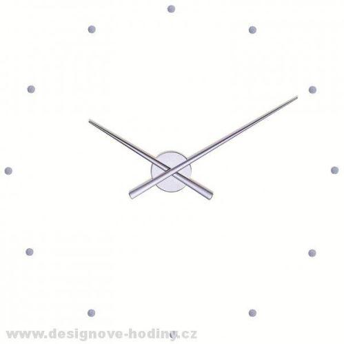 Dizajnové nástenné hodiny Nomon OJ strieborné 50cm