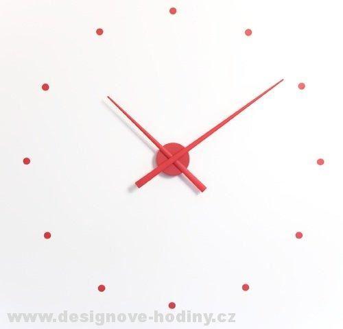 Dizajnové nástenné hodiny Nomon OJ červené 50cm
