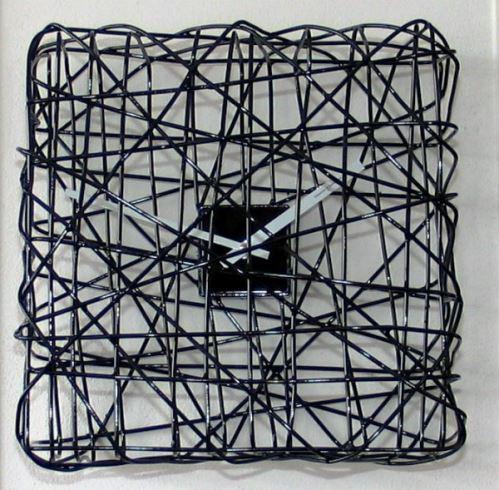 Dizajnové hodiny Diamantino & Domeniconi Tí Aspet black 32cm