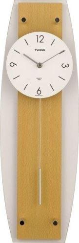 Nástenné kyvadlové hodiny Twins 9897 natur 50cm