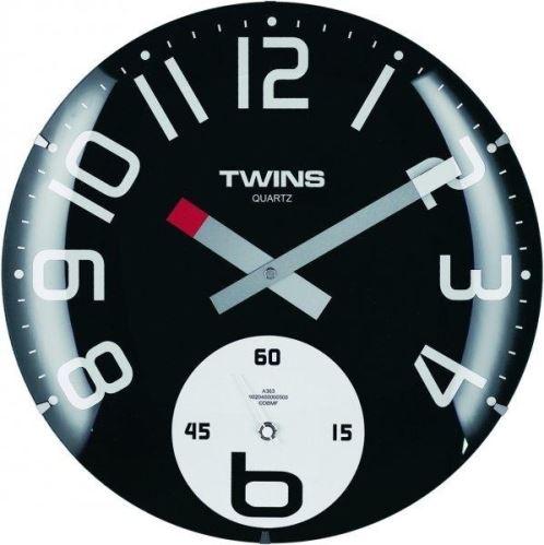 Nástenné hodiny Twins 363 black 35cm
