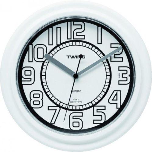 Nástenné hodiny Twins 406 white 23cm