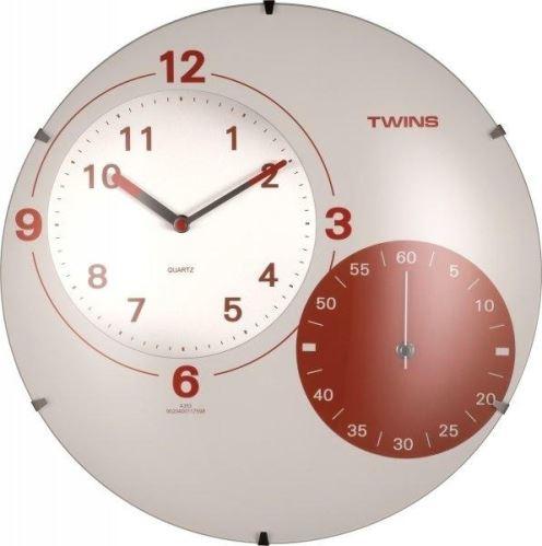 Nástenné hodiny Twins 353 white 35cm