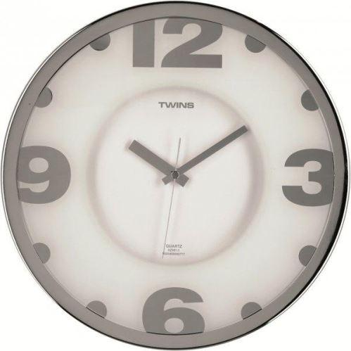 Nástenné hodiny Twins 2361-1 white 32cm