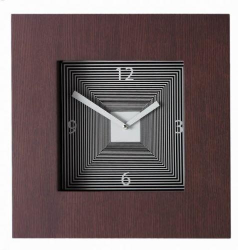 Dizajnové hodiny Diamantino & Domeniconi Target wenge 42cm